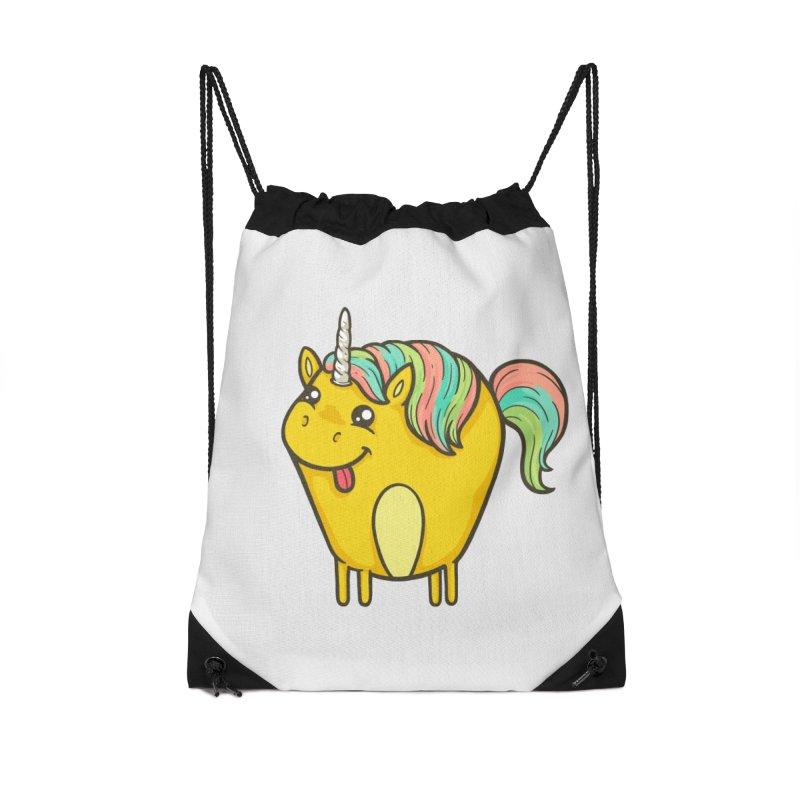 Unicorn Accessories Drawstring Bag Bag by spookylili