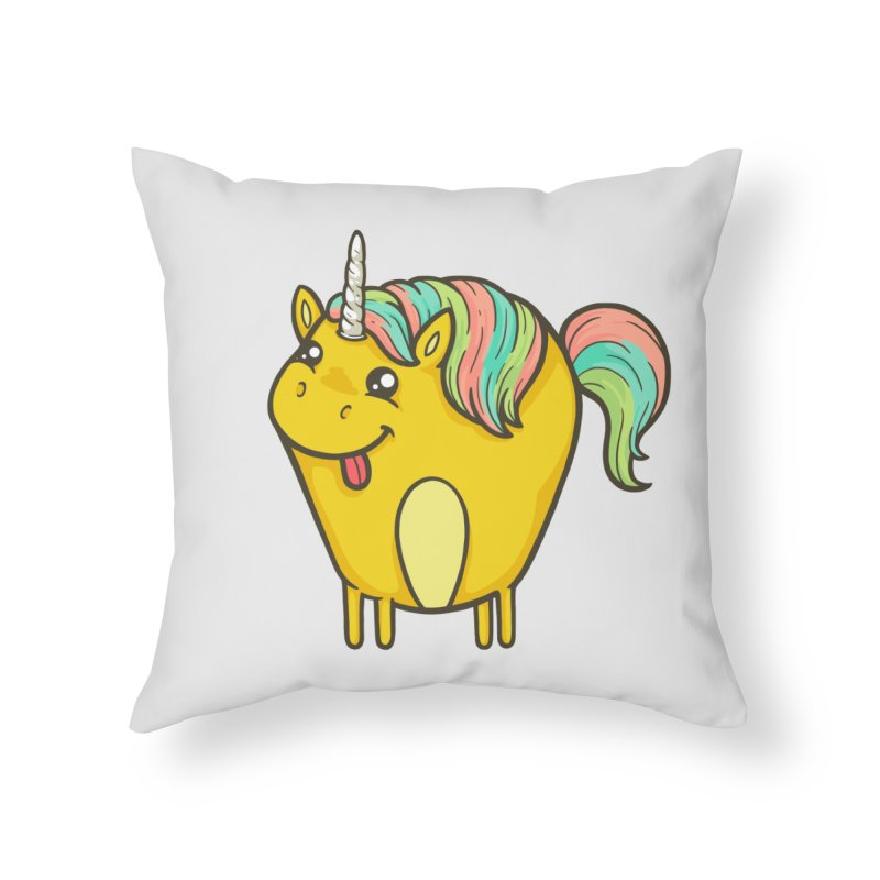 Unicorn Home Throw Pillow by spookylili