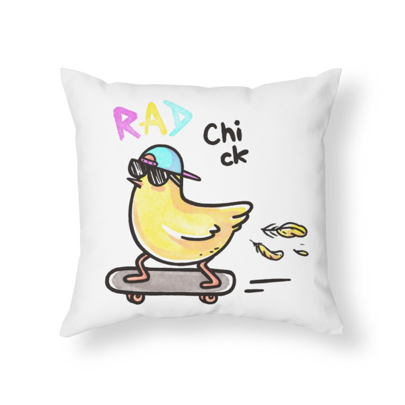 Rad Chick Home Throw Pillow by spookylili