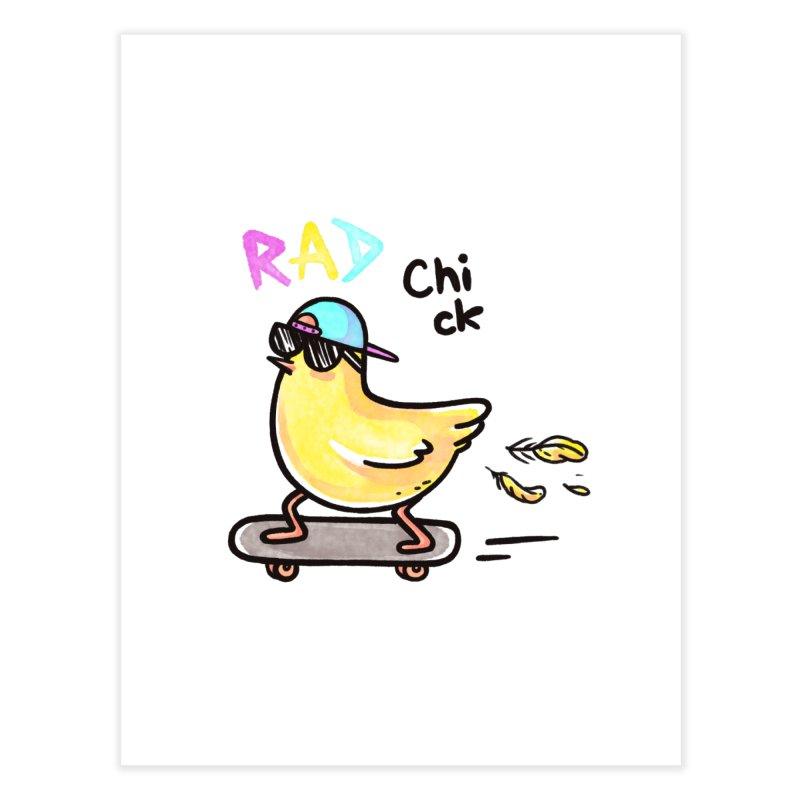 Rad Chick Home Fine Art Print by spookylili