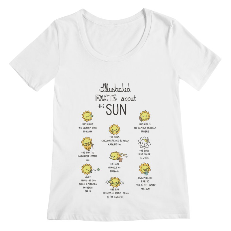 The Sun Women's Regular Scoop Neck by spookylili