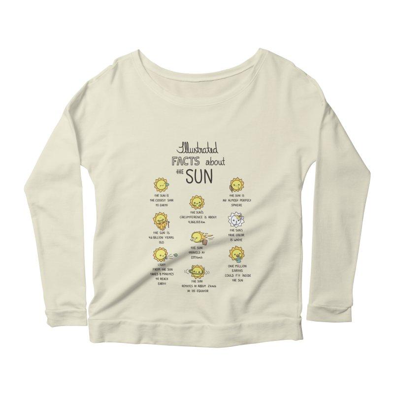The Sun Women's Longsleeve Scoopneck  by spookylili