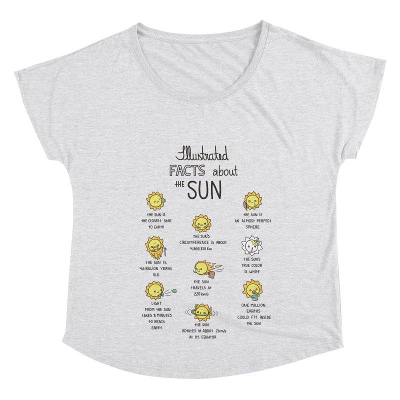The Sun Women's Scoop Neck by spookylili
