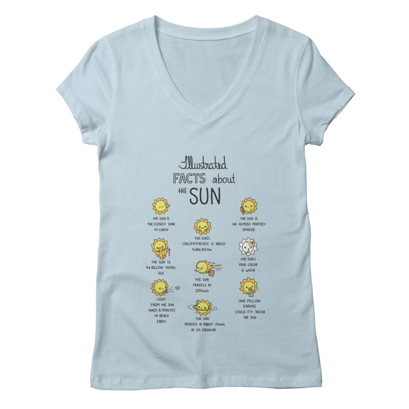 The Sun Women's V-Neck by spookylili