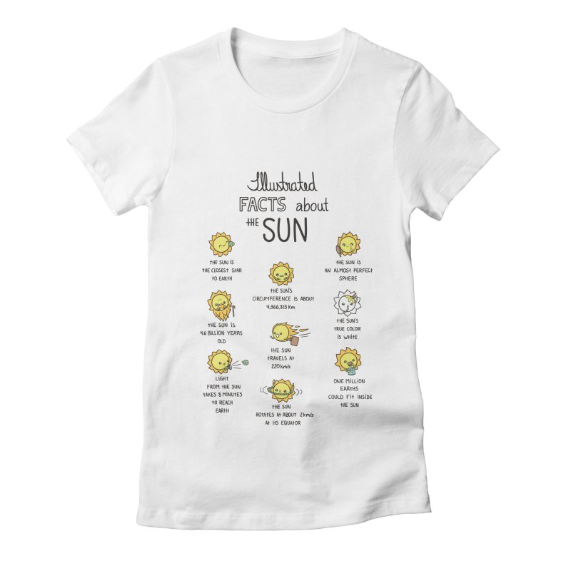 The Sun Women's Fitted T-Shirt by spookylili