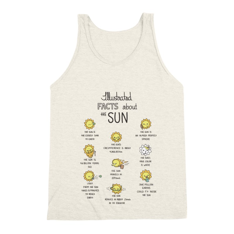 The Sun Men's Triblend Tank by spookylili