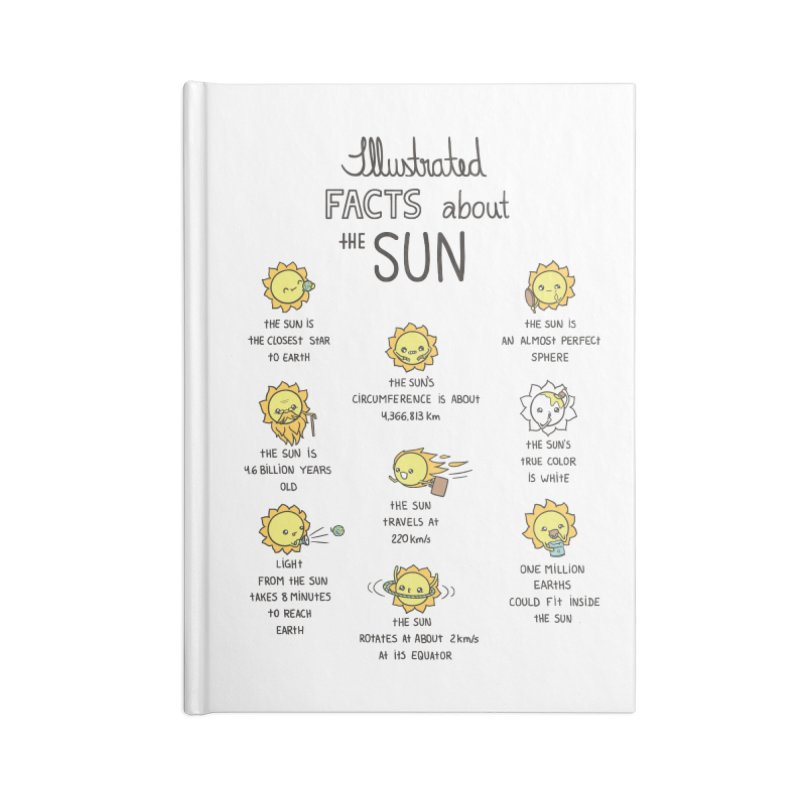 The Sun Accessories Blank Journal Notebook by spookylili