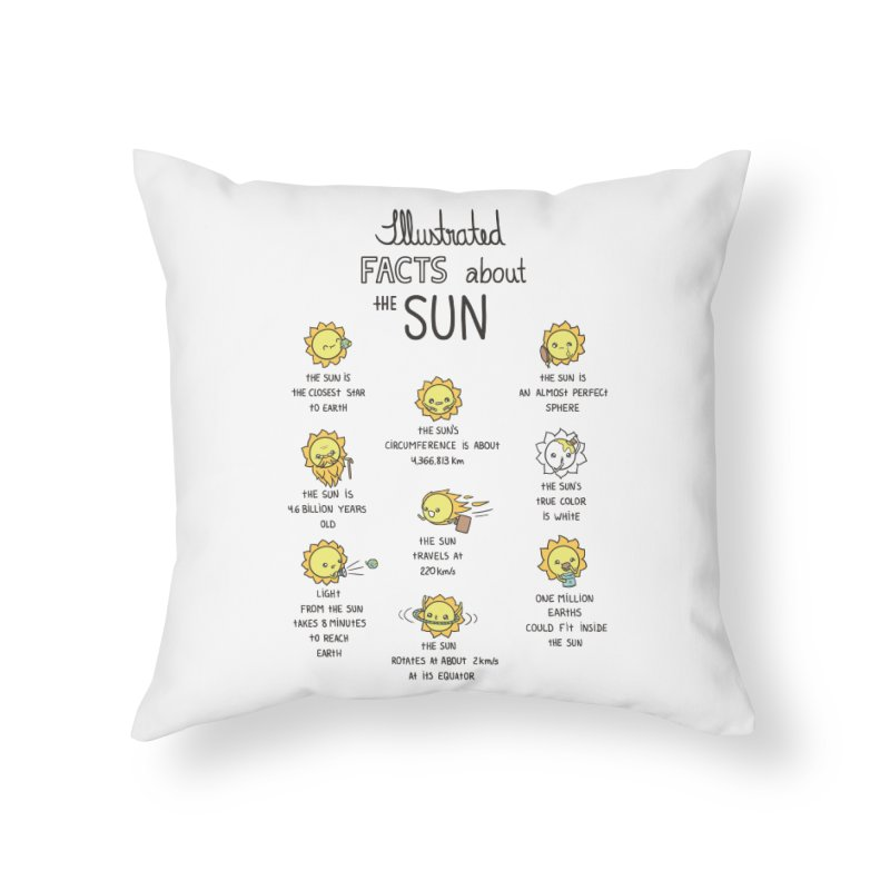 The Sun Home Throw Pillow by spookylili