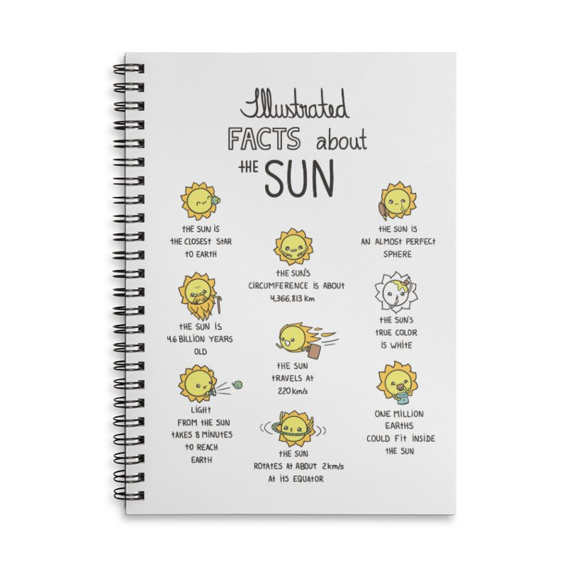 The Sun Accessories Lined Spiral Notebook by spookylili