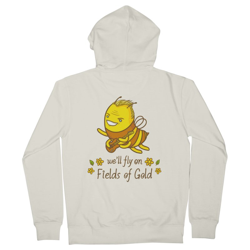 Bee Sting Men's Zip-Up Hoody by spookylili