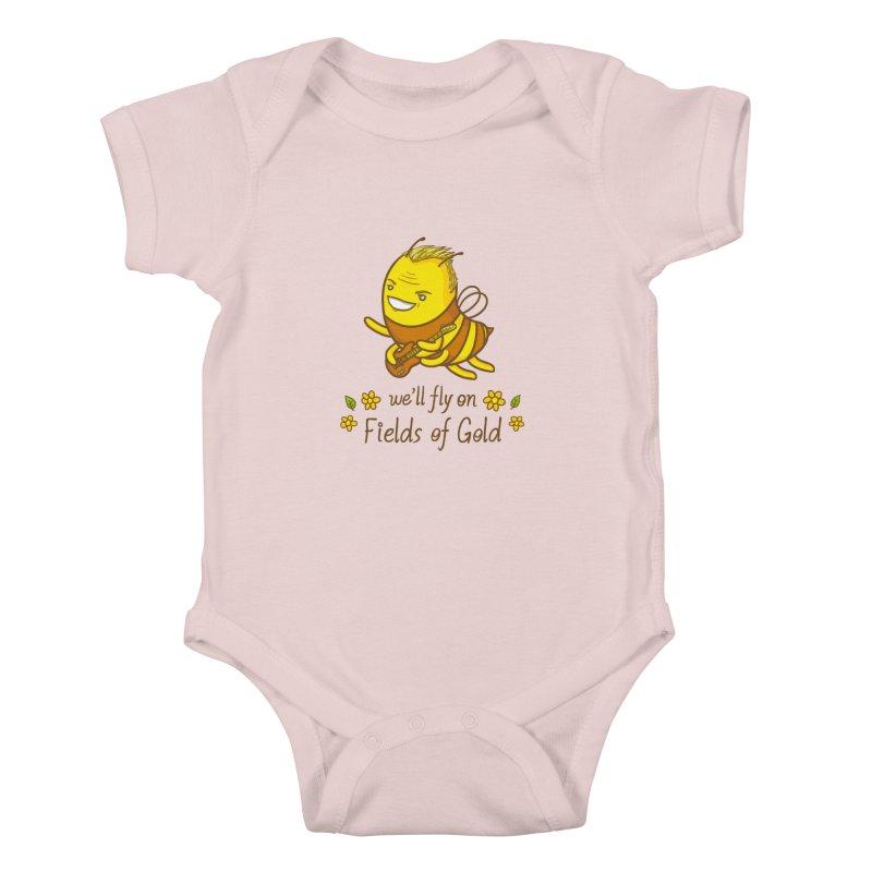 Bee Sting Kids Baby Bodysuit by spookylili