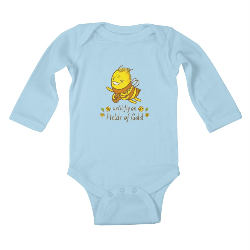 Bee Sting Kids Baby Longsleeve Bodysuit by spookylili