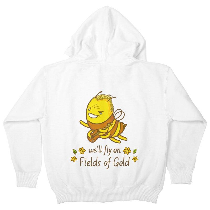 Bee Sting Kids Zip-Up Hoody by spookylili