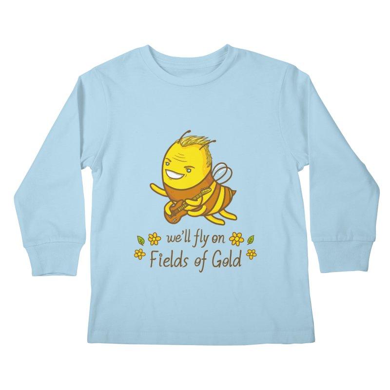 Bee Sting Kids Longsleeve T-Shirt by spookylili