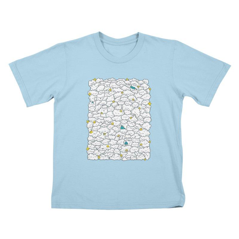 A Cloudy Night Kids T-Shirt by spookylili