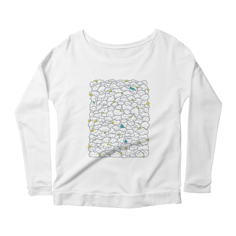 A Cloudy Night Women's Scoop Neck Longsleeve T-Shirt by spookylili