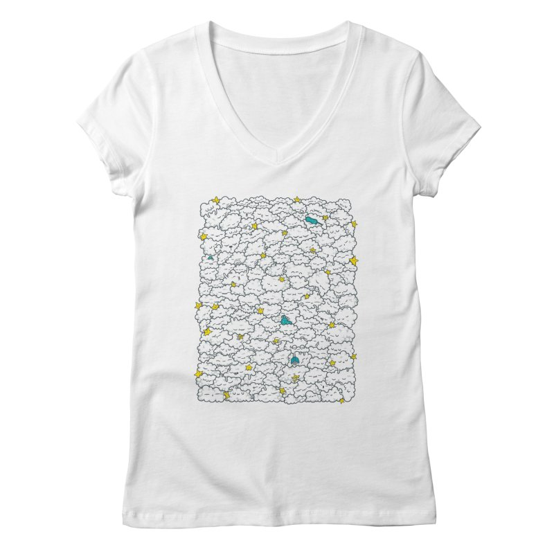 A Cloudy Night Women's Regular V-Neck by spookylili