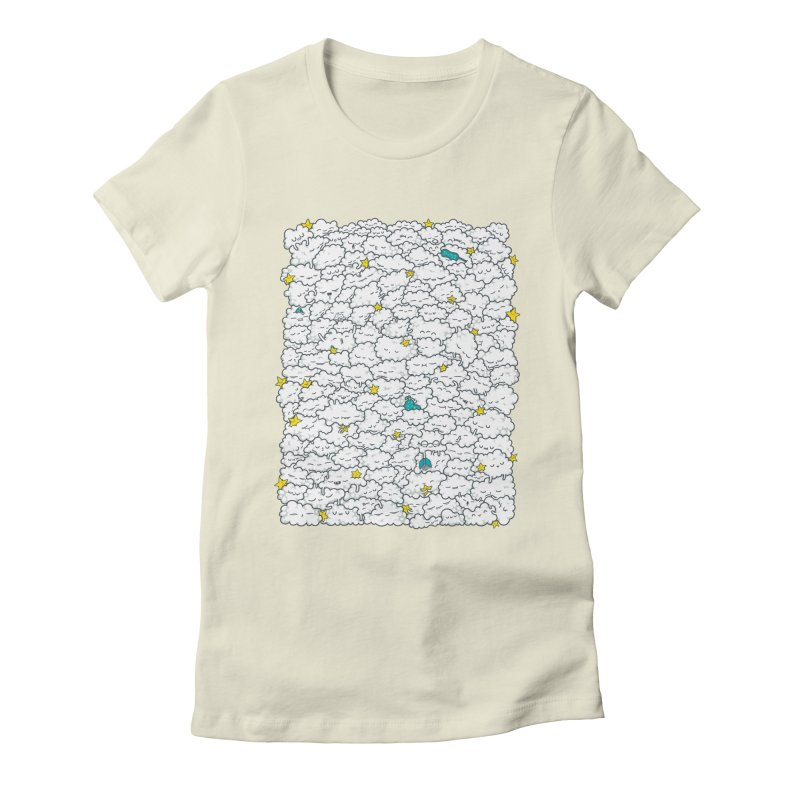 A Cloudy Night Women's Fitted T-Shirt by spookylili