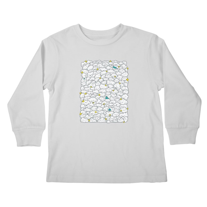 A Cloudy Night Kids Longsleeve T-Shirt by spookylili