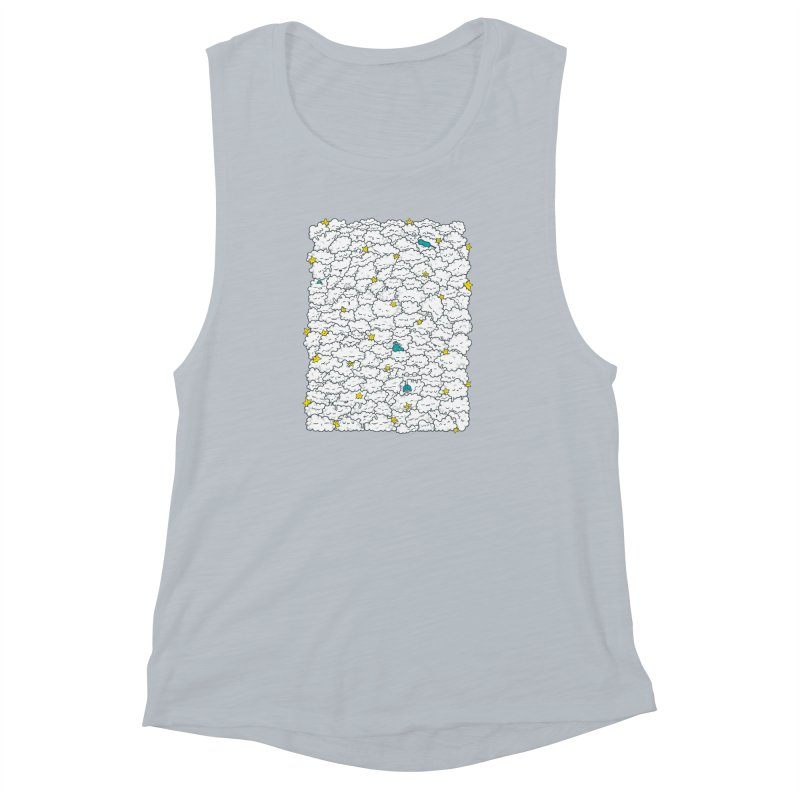 A Cloudy Night Women's Muscle Tank by spookylili