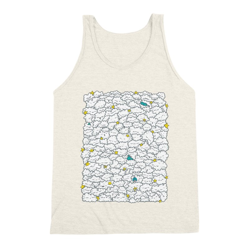 A Cloudy Night Men's Triblend Tank by spookylili