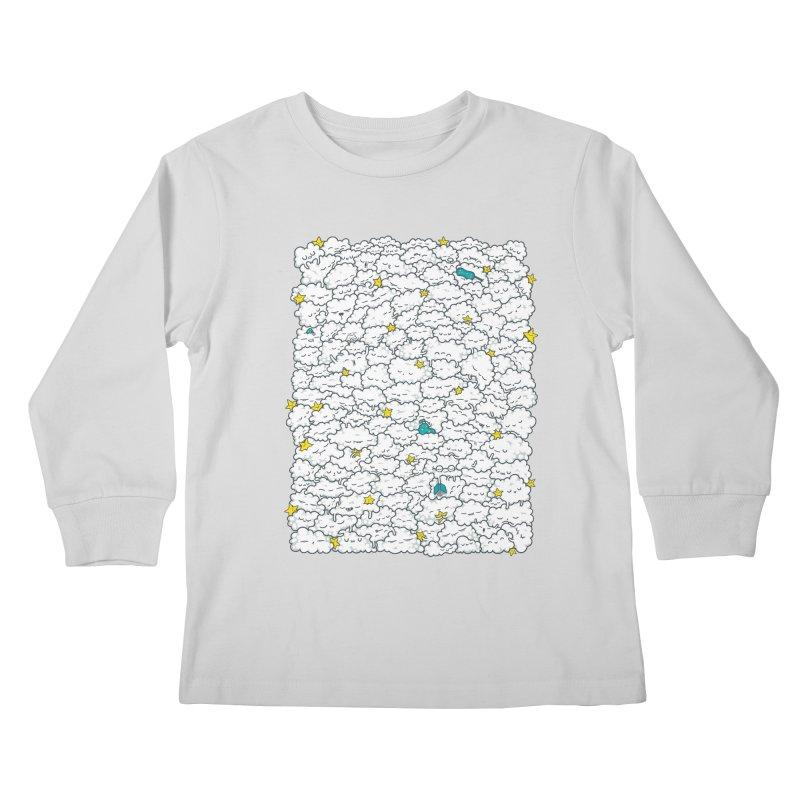 A Cloudy Night Kids Longsleeve T-Shirt by spookylili