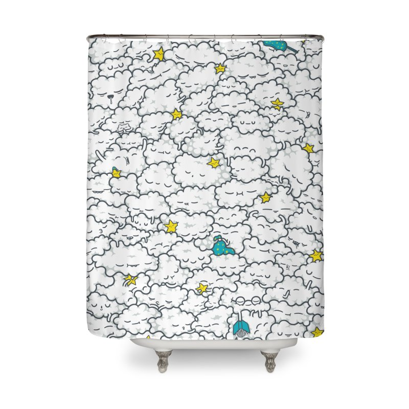 A Cloudy Night Home Shower Curtain by spookylili