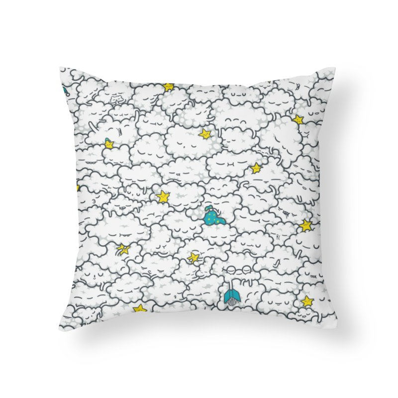 A Cloudy Night Home Throw Pillow by spookylili