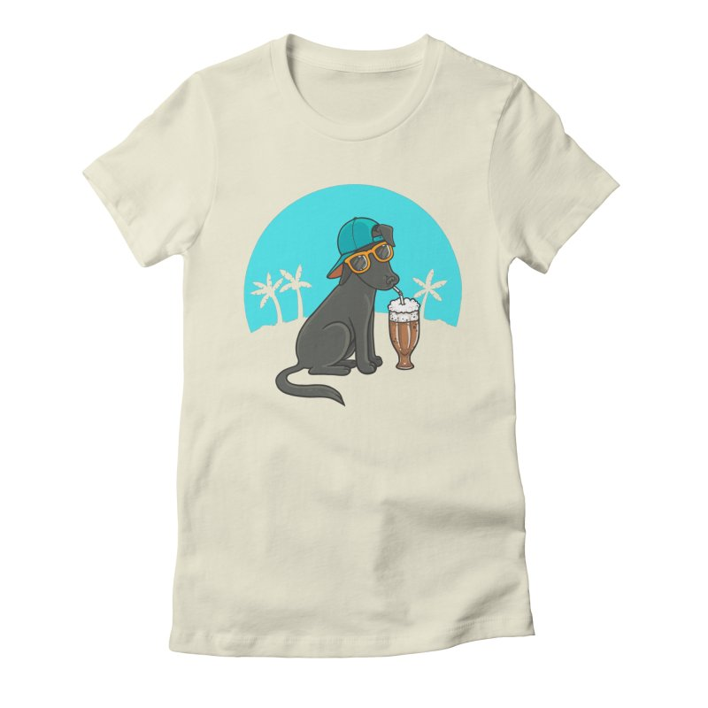 Summertime Women's Fitted T-Shirt by spookylili