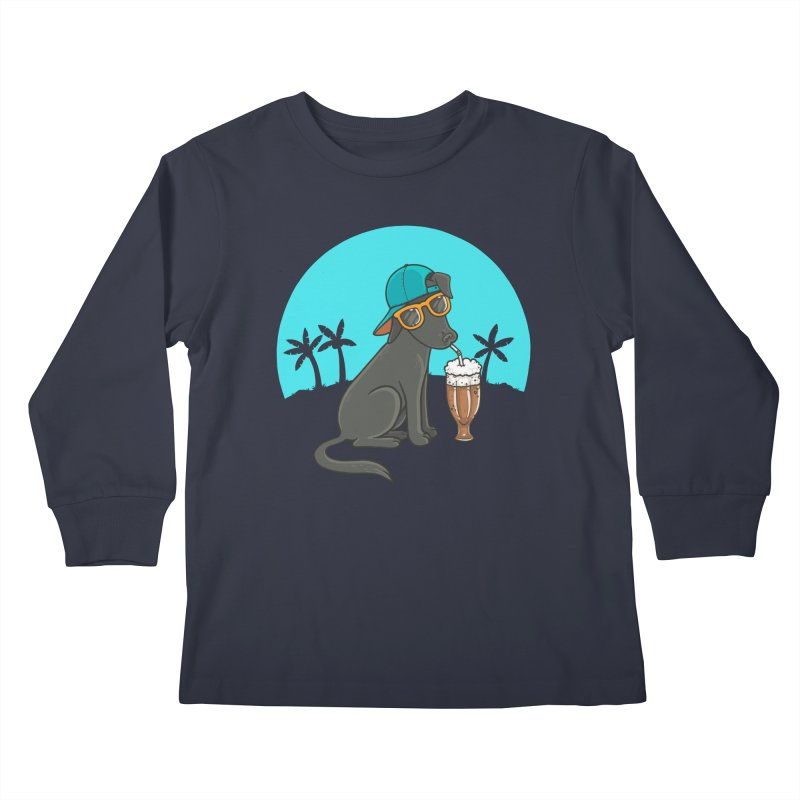 Summertime Kids Longsleeve T-Shirt by spookylili