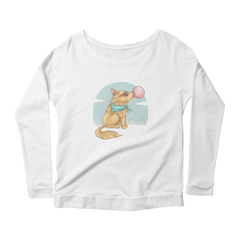 Bubblegum Women's Scoop Neck Longsleeve T-Shirt by spookylili