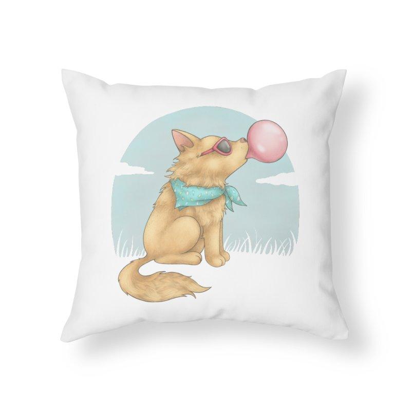 Bubblegum Home Throw Pillow by spookylili