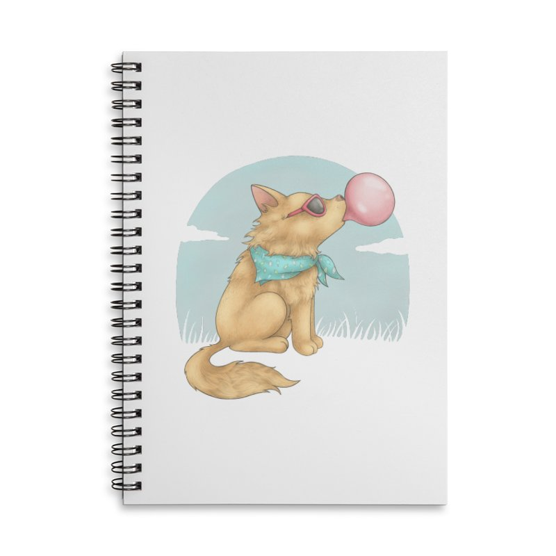 Bubblegum Accessories Lined Spiral Notebook by spookylili