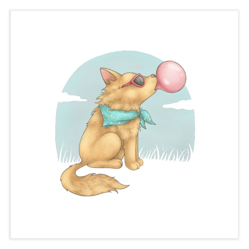 Bubblegum Home Fine Art Print by spookylili