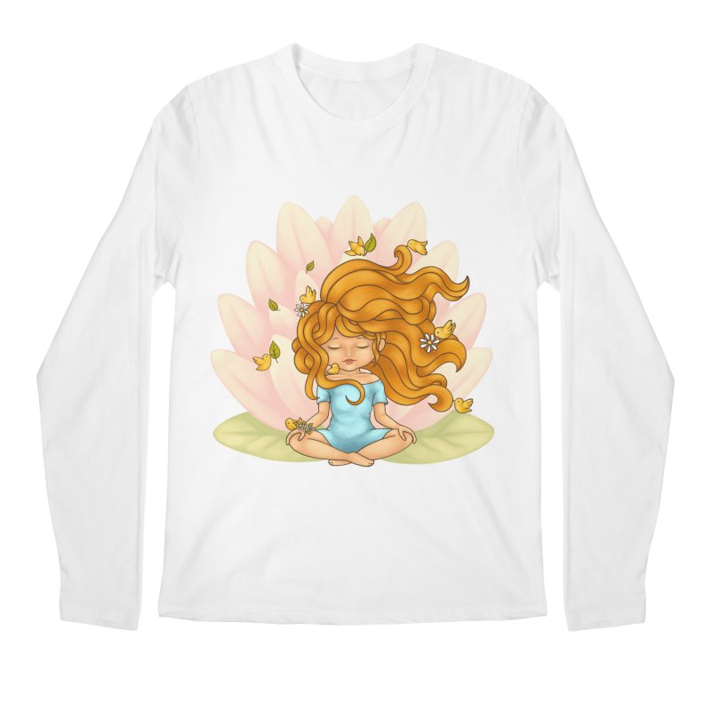 One With Nature Men's Regular Longsleeve T-Shirt by spookylili