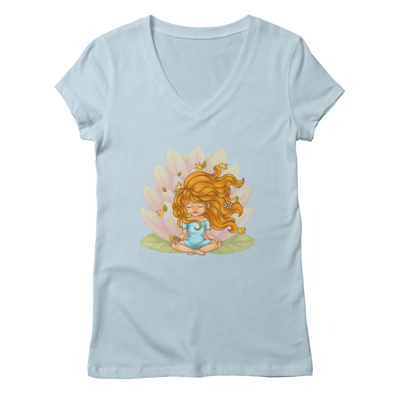 One With Nature Women's V-Neck by spookylili