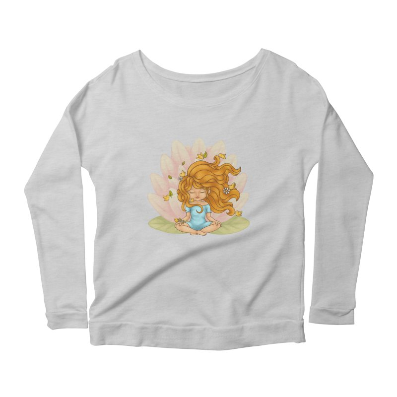 One With Nature Women's Longsleeve Scoopneck  by spookylili