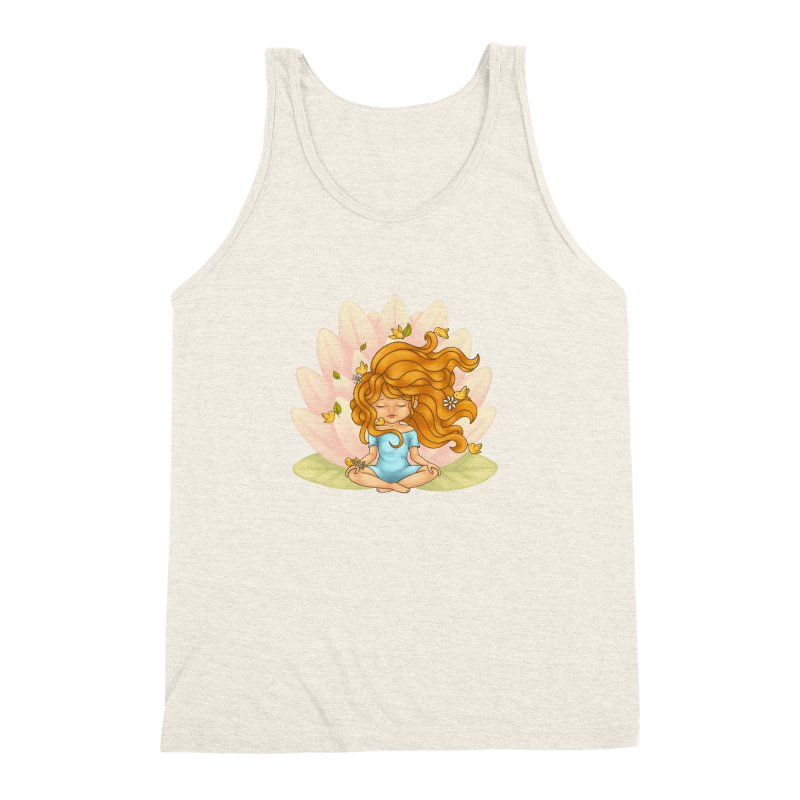 One With Nature Men's Triblend Tank by spookylili