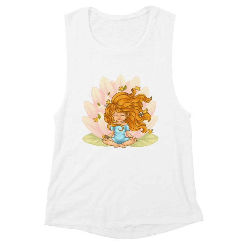 One With Nature Women's Muscle Tank by spookylili