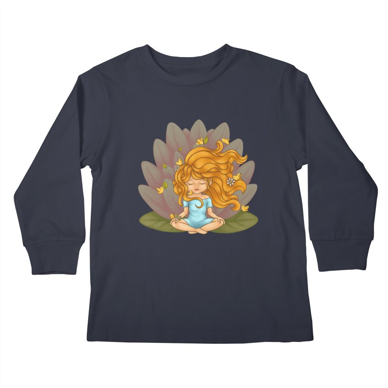 One With Nature Kids Longsleeve T-Shirt by spookylili