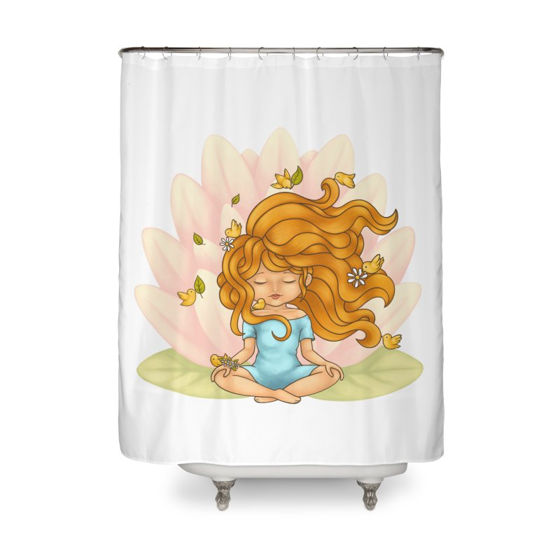 One With Nature Home Shower Curtain by spookylili