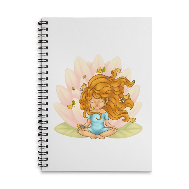 One With Nature Accessories Lined Spiral Notebook by spookylili