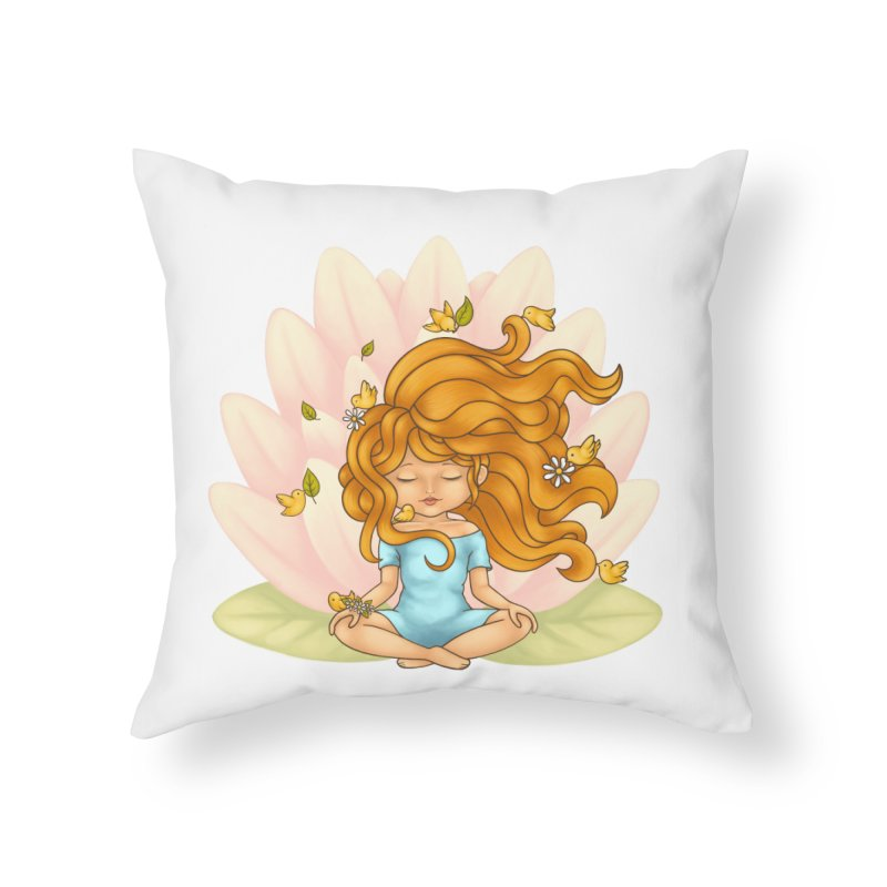 One With Nature Home Throw Pillow by spookylili