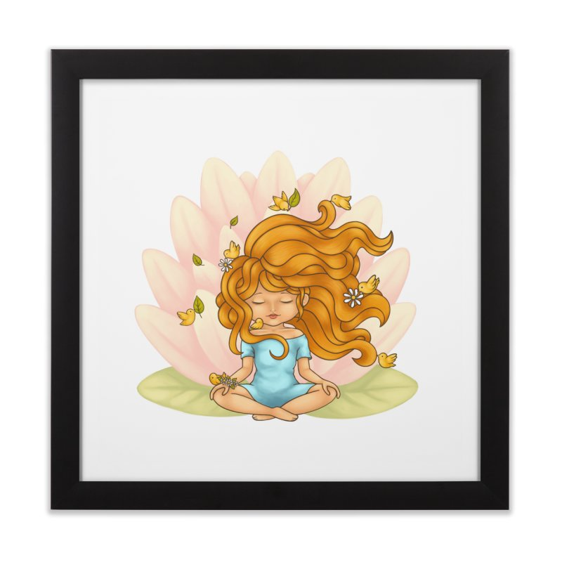 One With Nature Home Framed Fine Art Print by spookylili