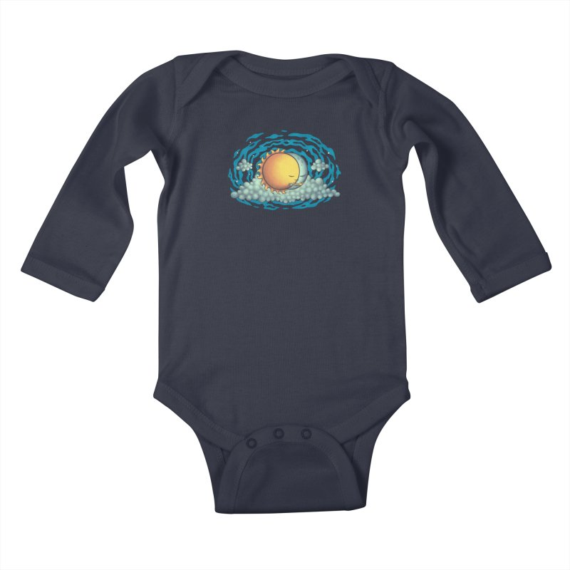 Because the Night Kids Baby Longsleeve Bodysuit by spookylili