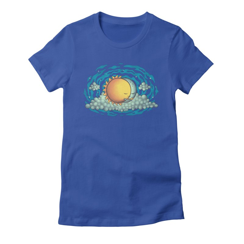 Because the Night in Women's Fitted T-Shirt Royal Blue by spookylili