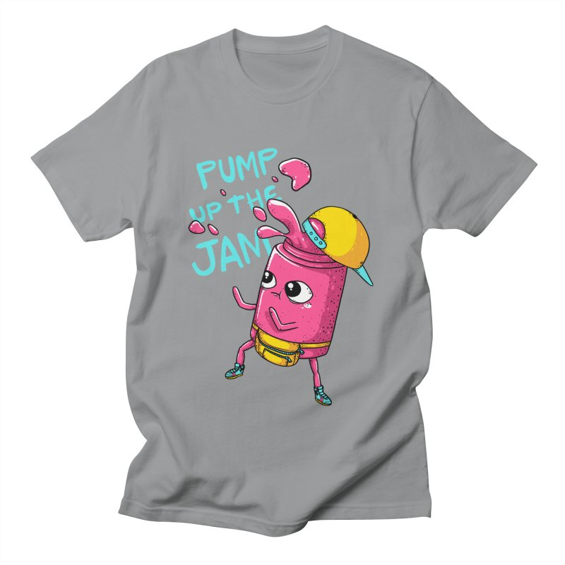 Pump the Jam in Men's Regular T-Shirt Slate by spookylili