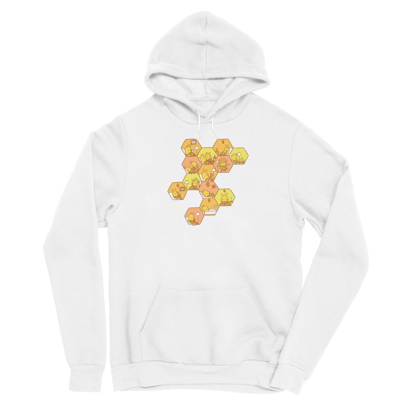 Just Bee Men's Sponge Fleece Pullover Hoody by spookylili