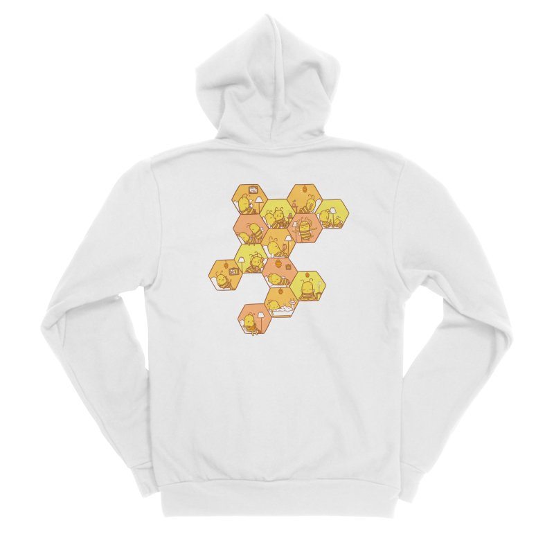 Just Bee Men's Sponge Fleece Zip-Up Hoody by spookylili