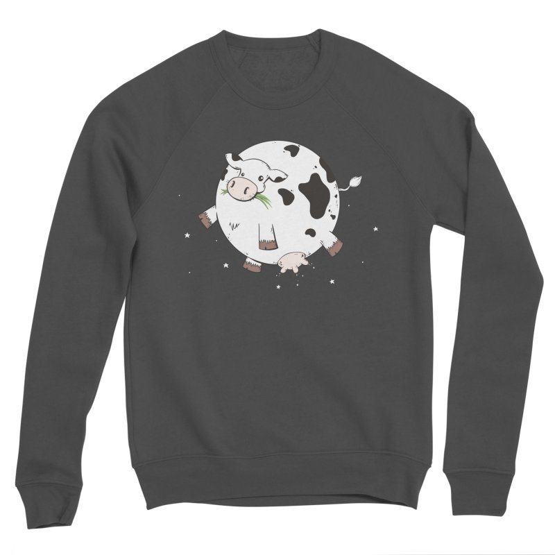 Full Moo Men's Sponge Fleece Sweatshirt by spookylili